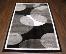 RUGS HAND CARVED BLACK/GREY/CREAM 120X170CM APROX 6FTX4FT SUPER QUALITY BARGAINS